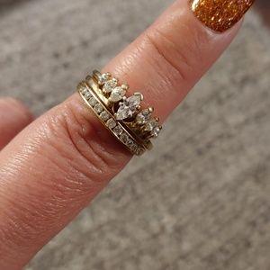 Engagement ring and bridal band